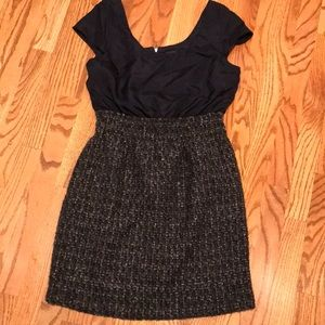 NWT J Crew Silk Bodice Wool Skirt Dress